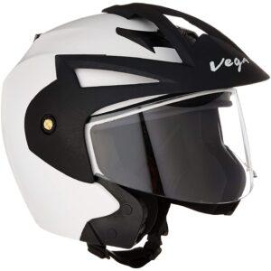 Vega Crux Open Face Helmet (White, L)