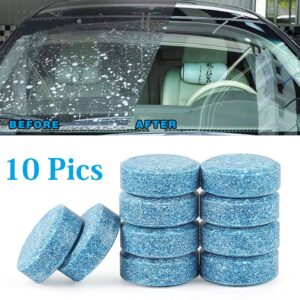 HSR 10PCS/1Set Car Wiper Detergent Effervescent Tablets Washer Auto Windshield Cleaner Glass Wash Cleaning Compact Concentrated Tools (10)